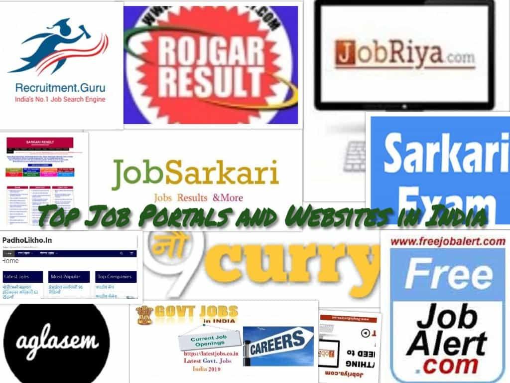 नौकरी सम्बन्धी शीर्ष और मुफ्त वेबसाइट्स |